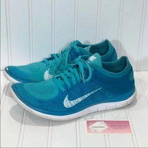Nike Free Flyknit 4.0 Running Shoes Aqua